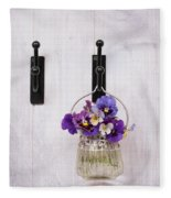 Hanging Pansies Fleece Blanket