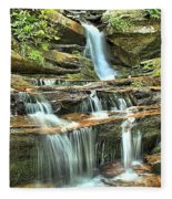 Hanging Rock Cascades Fleece Blanket