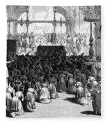 Hannukah Celebration, 1880 Fleece Blanket