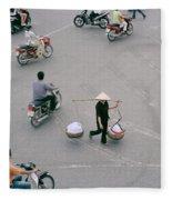 Hanoi Woman Fleece Blanket