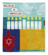 Hanukkah Miracles Fleece Blanket