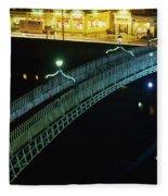 Hapenny Bridge, Dublin City, Co Dublin Fleece Blanket