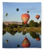 Happy Balloon Day Fleece Blanket