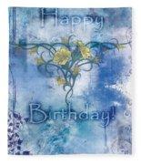 Happy Birthday - Card Design Fleece Blanket