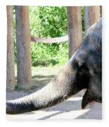 Happy Elephant Fleece Blanket