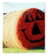 Happy Fall Face Fleece Blanket