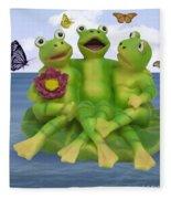 Happy Frogs Fleece Blanket