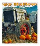 Happy Halloween Card Fleece Blanket