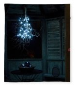 Happy Holiday Lights Fleece Blanket