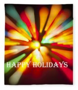 Happy Holidays Card Fleece Blanket