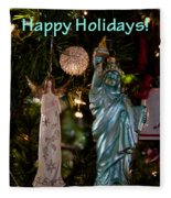 Happy Holidays To All My Friends On Fine Art America Fleece Blanket