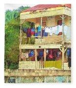 Happy Hour Washday Belize Fleece Blanket