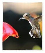 Happy Hummingbird Fleece Blanket