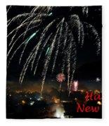 Happy New Year Card Fleece Blanket