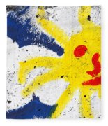 Happy Sun Face Fleece Blanket