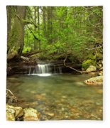 Happy Trail Falls Fleece Blanket