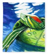 Happy Turtle Fleece Blanket