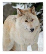 Happy Wolf Fleece Blanket