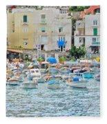 Harbor At Isle Of Capri Fleece Blanket