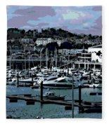 Harbor At Torquay Fleece Blanket