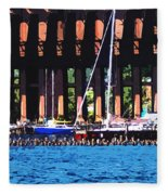 Harbor Docks Fleece Blanket