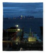 Harbor Morn Fleece Blanket