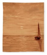 Harbor Sunset Fleece Blanket