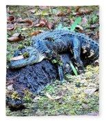 Hard Day In The Swamp - Digital Art Fleece Blanket