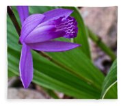 Hardy Orchid 3 Fleece Blanket