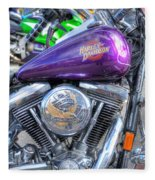 Harley Davidson 3 Fleece Blanket