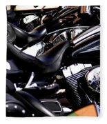 Harley Davidson Motorcycles Fleece Blanket