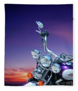 Harley Sunset Fleece Blanket