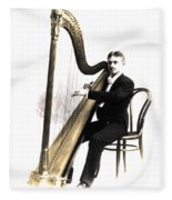 Harp Player Fleece Blanket
