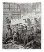 Harpers Ferry Insurrection, 1859 Fleece Blanket
