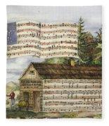 Harrisons Log Cabin March Fleece Blanket