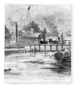Hartford, 1853 Fleece Blanket
