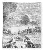 Harvesting, 18th Century Fleece Blanket