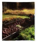 Harvesting The Crop Fleece Blanket