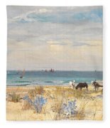 Harvesting The Land And The Sea Fleece Blanket