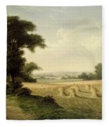 Harvesting Fleece Blanket