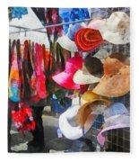 Hats And Purses At Street Fair Fleece Blanket