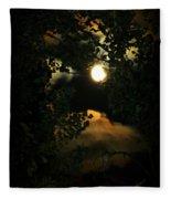 Haunting Moon Fleece Blanket