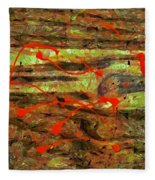 Have You Done The Paint Dance? Fleece Blanket