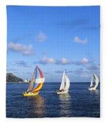 Hawaii Sailboats Fleece Blanket