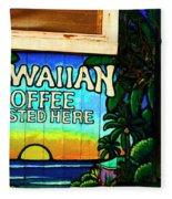 Hawaiian Coffee Fleece Blanket