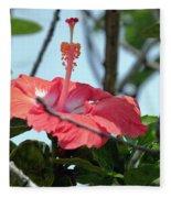 Hawaiian Hibiscus Fleece Blanket