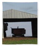 Hay Barn Fleece Blanket