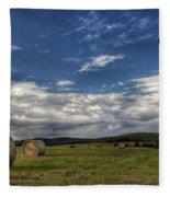 Haymaking Time Fleece Blanket