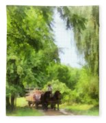 Hayride Fleece Blanket