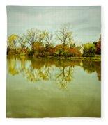 Hazy Autumn Afternoon Fleece Blanket